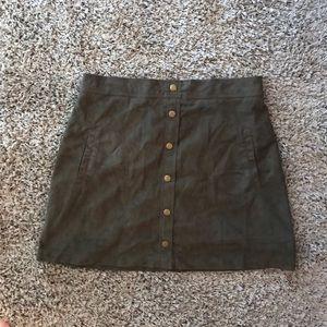 Blu Pepper Button Up Skirt